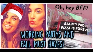 ❄VLOGMAS: BeautyconBFF unboxing & working Microsoft's holiday party!