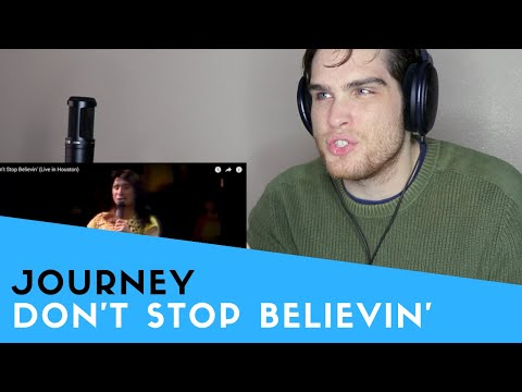 Voice Teacher Reacts to Journey - Don't Stop Believin' (Live)