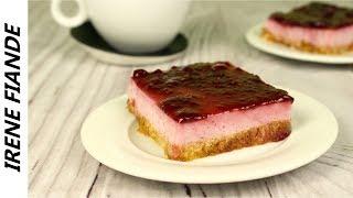Необычный рецепт торта без выпечки! Малиновый торт с йогуртом и желе без выпечки