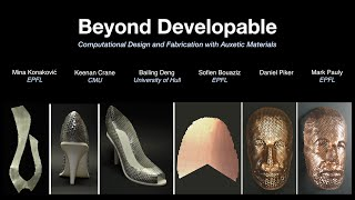 Beyond Developable: Computational Design and Fabrication with Auxetic Materials (SIGGRAPH 2016)