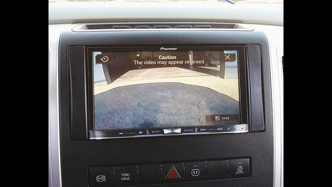 2016 Dodge Ram >> Pioneer AVIC7200NEX Carplay w/front and back up camera - YouTube