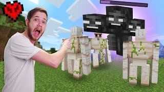 Defeating The Wither Boss WITHOUT Hitting Him! | Minecraft