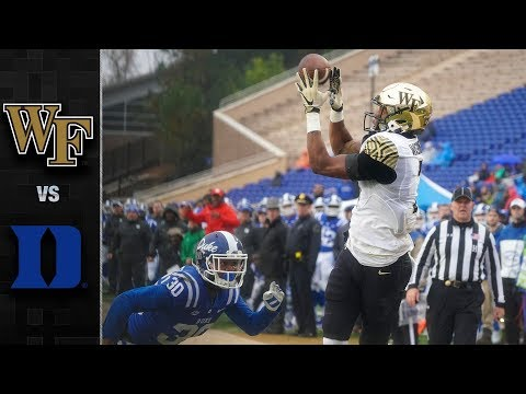 Wake Forest vs. Duke Football Highlights (2018)