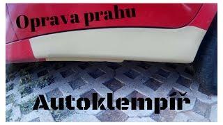 Oprava zrezlého prahu auta (Car body repair)
