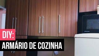 🛠 DIY: REFORMANDO ARMÁRIO DA COZINHA COM PAPEL CONTACT|Samira Aires