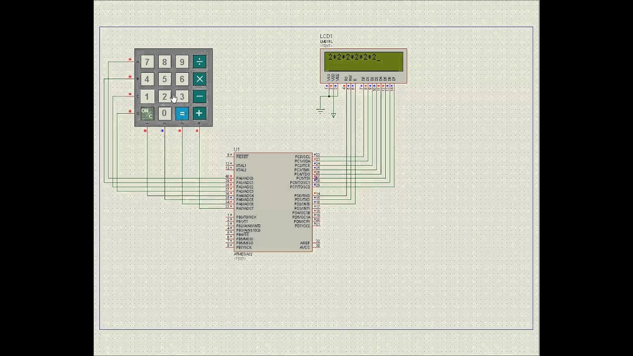 Calculator proj: some features(Avr atmega32)