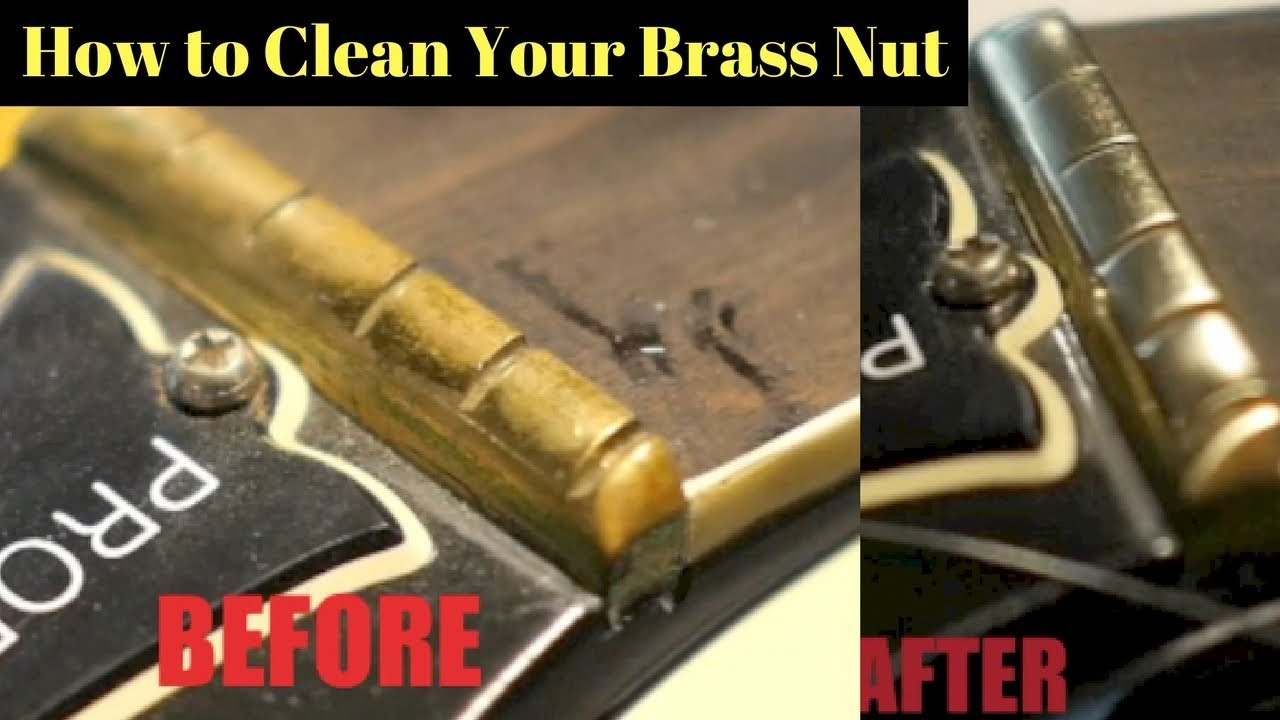 NEW BRASS Slotted Nut For Gibson Guitars