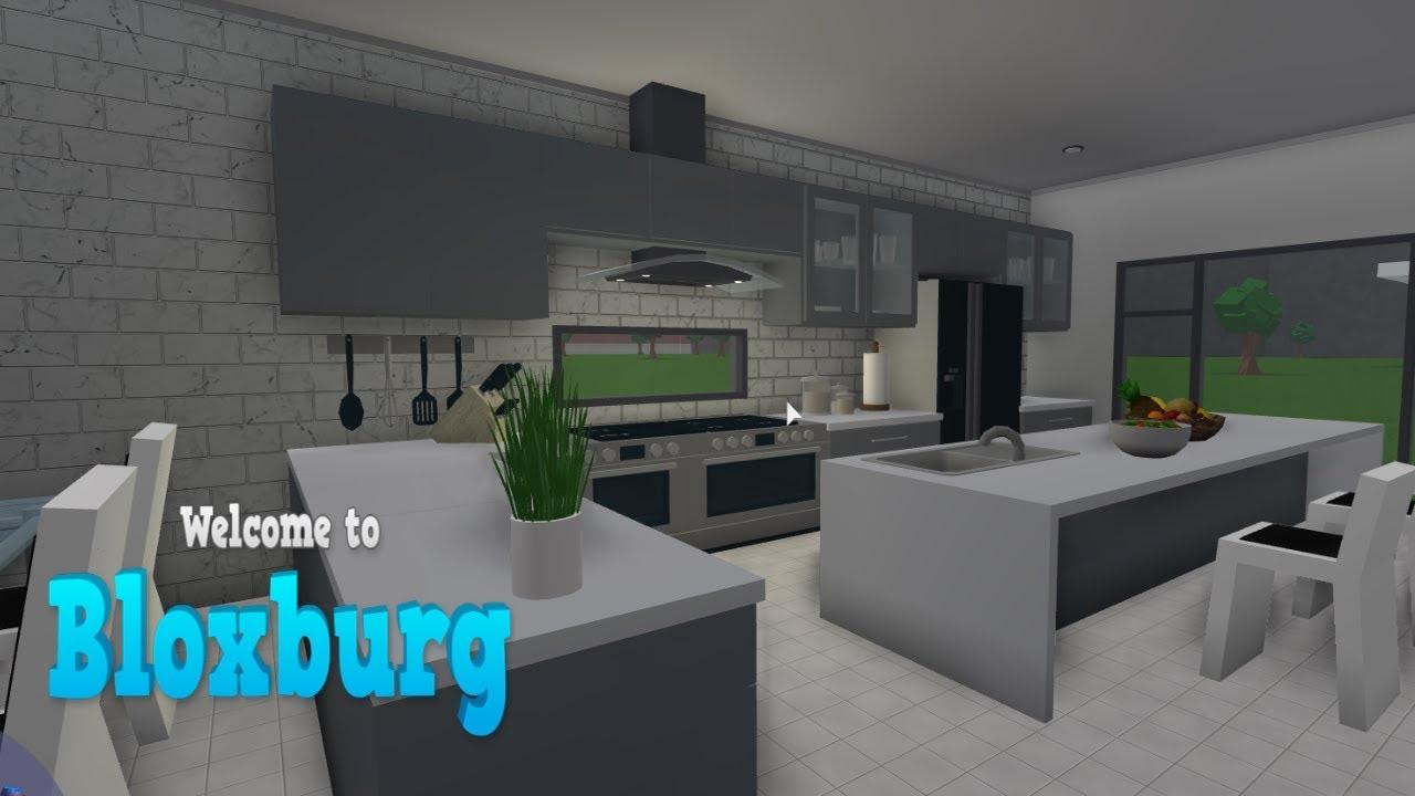 Modern Kitchen Build Bloxburg Roblox 1 Youtube