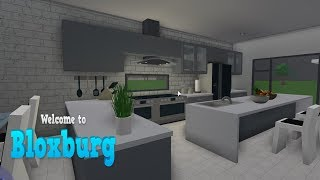 Modern Kitchen Build! Bloxburg Roblox! #1