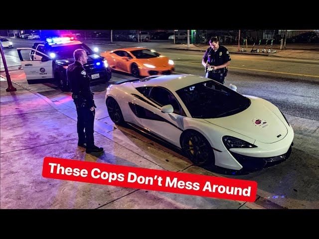LA POLICE THREATEN SUPERCAR OWNER OVER FAKE REGISTRATION...