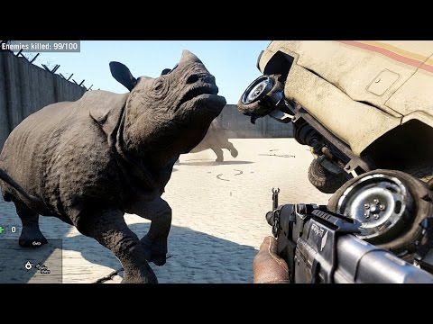 Far Cry 4 Massive Scale Battles Rhinos VS Soldiers