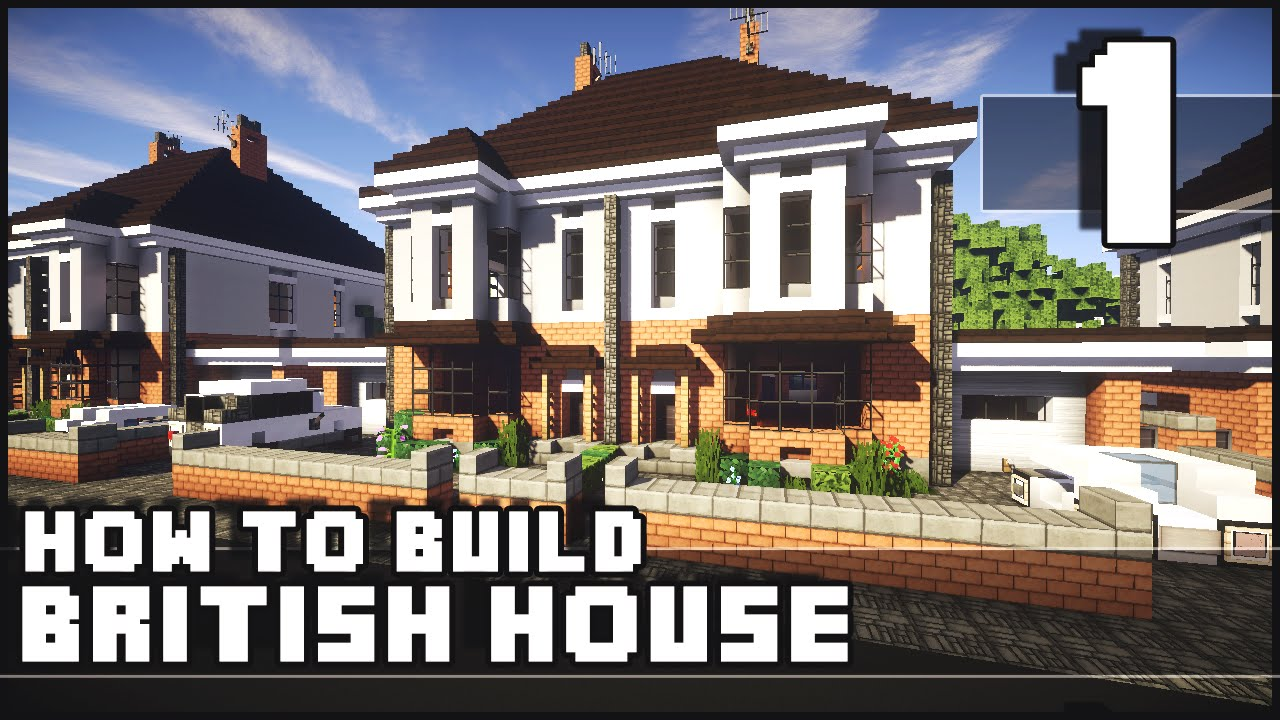 Minecraft How To Build British House Part 1 Youtube