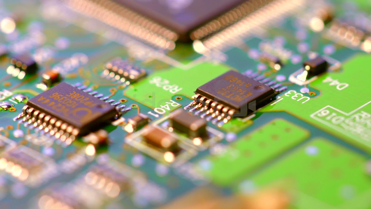 Macro Shot Of Computer Circuit Board Free Stock Video Download Animation 11 By Motionworks Videohive Footage