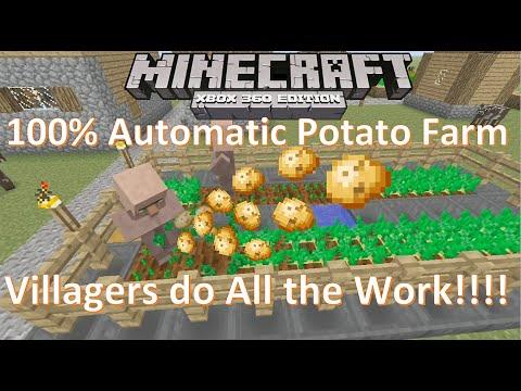 100% Automatic Potato Farm | Minecraft Xbox 360 Xbox One PS3 PS4 Tutorial