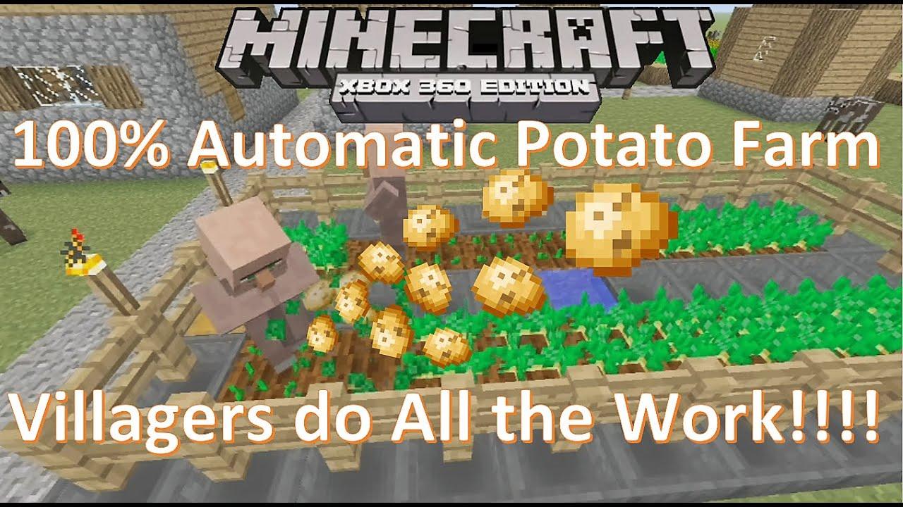 10% Automatic Potato Farm  Minecraft Xbox 10 Xbox One PS10 PS10 Tutorial