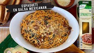 Espagueti En Salsa Mexicana/ Spaghetti  In A Mexican Sauce