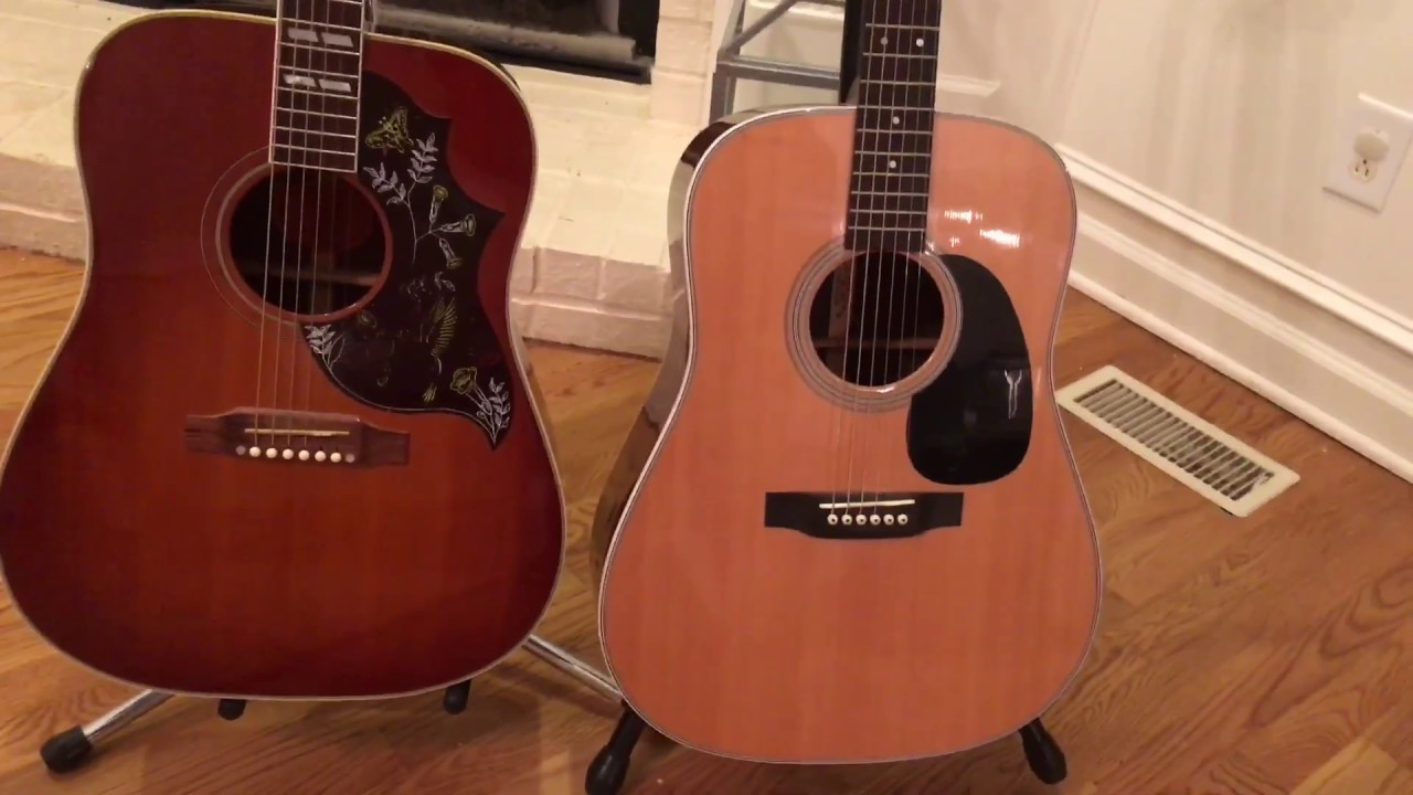 What would you choose? A Gibson Hummingbird Or Martin D28
