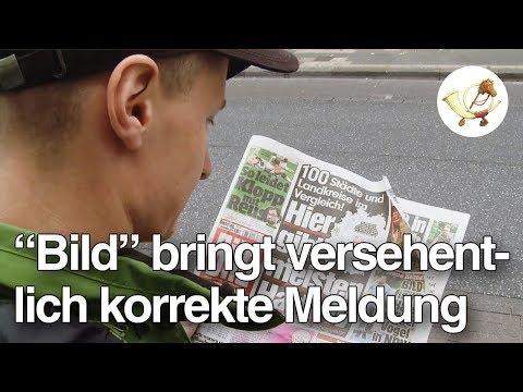 """Eklat! Korrekte Meldung versehentlich in """"Bild""""-Zeitung veröffentlicht [Postillon24]"""