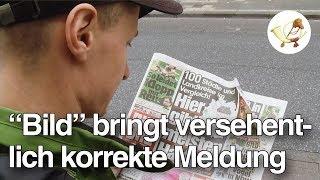 """Eklat! Korrekte Meldung versehentlich in """"Bild""""-Zeitung veröffentlicht"""