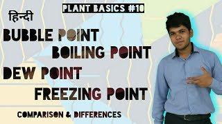 [Hindi] What is Bubble point, Boiling point, Dew point & Freezing point ? QnA#16