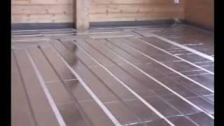 видео Тёплый лёгкий водянной пол по деревянным лагам без стяжки.