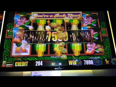 Leprechaun Wining At Isleta Casino Albuquerque NM