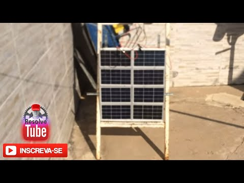 Placa solar caseira gera 110 volts