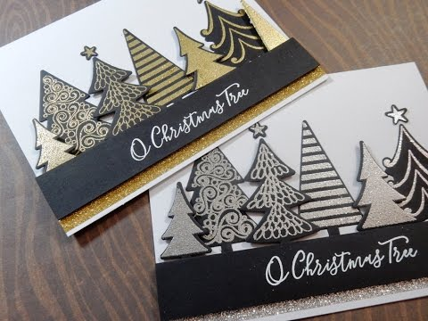 Holiday Card Series 2016   Day 20 of 25   My Favorite Things Oh Christmas Trees - YouTube