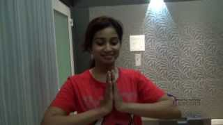 Shreya Ghoshal in Andar Bahar Movie | Making of  Song Maleyali Ninda [HD]
