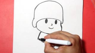 Como dibujar a pocoyo - how to draw pocoyo