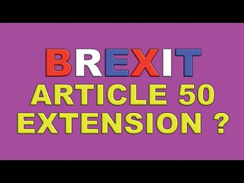 Brexit Article 50 Extension Vote Later Today!