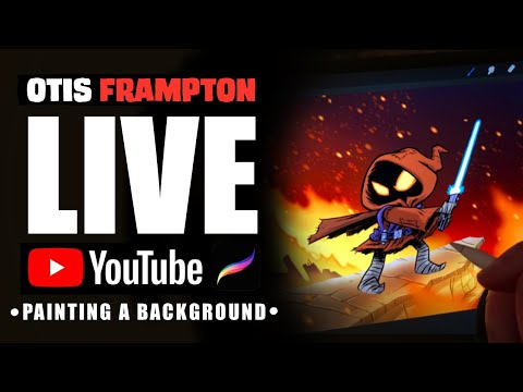 Otis Frampton LIVE - July 10th, 2019 - Painting A Background