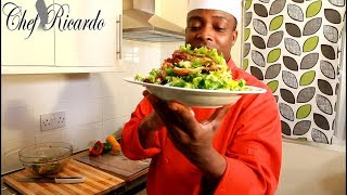 A Great Summer Recipe Healthy Salad From  Chef Ricardo Salad Bar