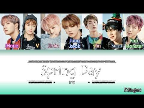 BTS - Spring Day (봄날) | Sub (Han - Rom - Español) Color Coded Letra