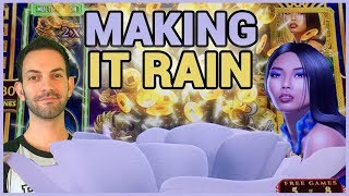 💦💰 Making it RAIN ☔💰 ✦ Simpsons + Pandas + 8 Petals  ✦ Slot Machine Pokies w Brian Christopher