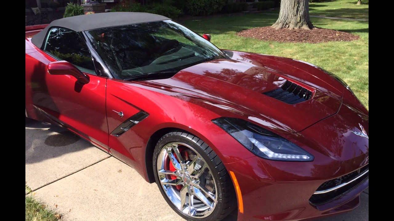 2016 Chevrolet Corvette Stingray Long Beach Red Metallic   YouTube
