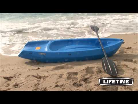 Lifetime Wave Youth Kayaks Demo In Orange, Blue, Pink, Green, And Yellow