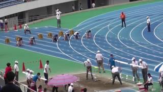 20170730 渋谷区記録会 男子100m 18組
