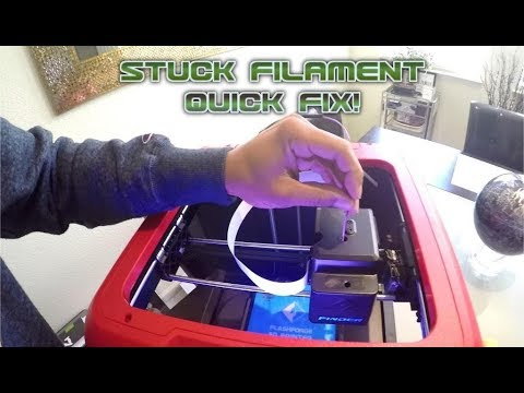 Unclogging 3D Printer Flashforge Finder - EASY!