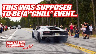 "A ""Chill"" Car Show Turns Into UTTER DEBAUCHERY! *Almost got a cop to do a burnout*"