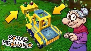 БАБКИ ПОТЕРЯЛИСЬ И ИЩУТ ДОРОГУ ДОМОЙ !!! МУЛЬТИК в Scrap Mechanic !!!
