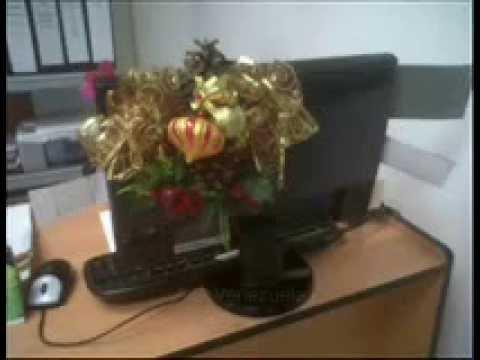 Adorno para escritorio navide os monitor aisavenezuela for Adornos navidenos para oficina