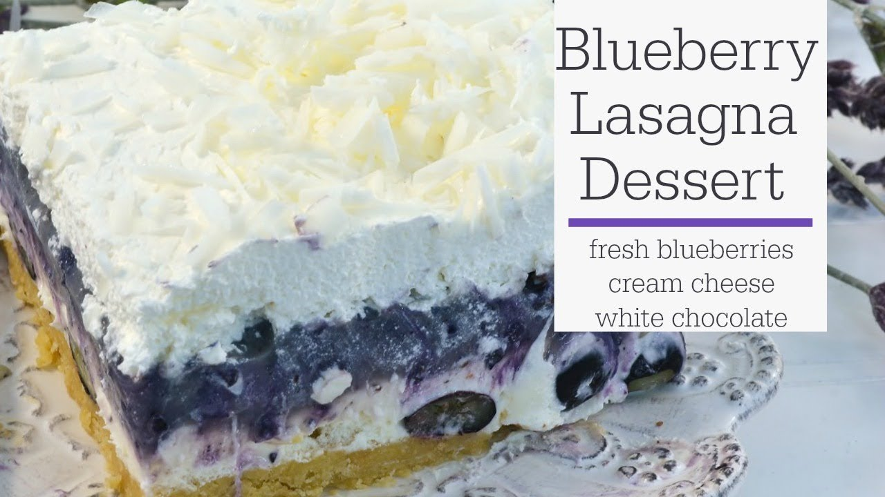 Blueberry Lasagna - No Bake Dessert Recipe - RadaCutlery.com - YouTube