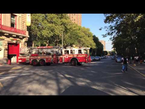 FDNY TOWER LADDER 17 RESPONDING FROM QUARTERS ON 143RD ST. IN MELROSE AREA OF THE BRONX, NEW YORK.