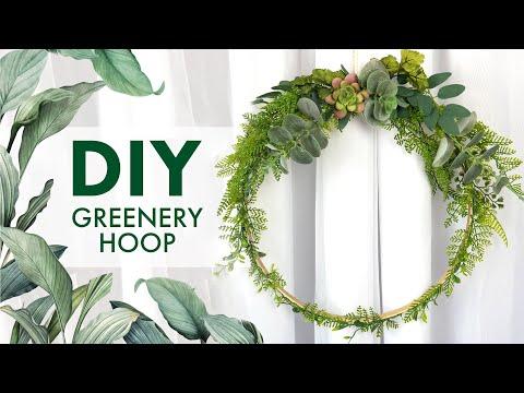 DIY Greenery Hoop | BalsaCircle.com