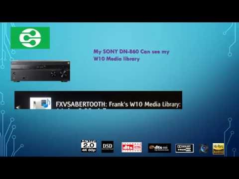 DLNA - Windows 10 - Setting up  DLNA Media Streamer