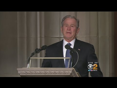Thousands Honor Former President George H.W. Bush At National Cathedral Funeral