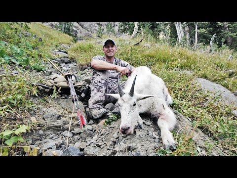 S:7 E:14 Bow Hunting with a Longbow for Mountain Goat DIY wi