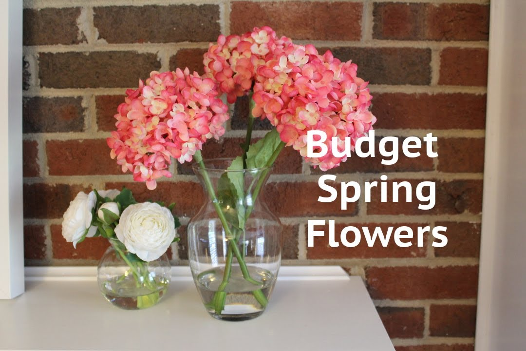 CHEAP DECOR IDEA: Acrylic Water Flower Arrangement - YouTube