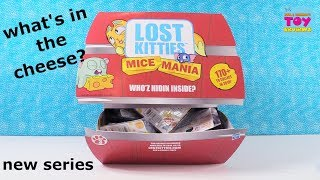 Lost Kitties Mice Mania Cheese Wheels Blind Bag Series 3 Toy Review | PSToyReviews